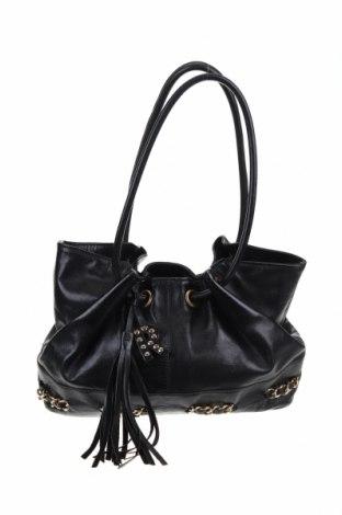 Γυναικεία τσάντα Tosca Blu, Χρώμα Μαύρο, Γνήσιο δέρμα, Τιμή 26,91€