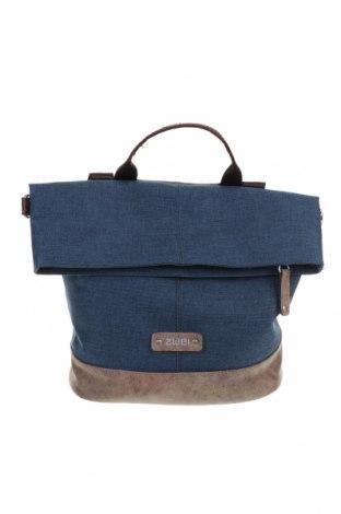 Дамска чанта Zwei, Цвят Син, Текстил, еко кожа, Цена 28,35лв.