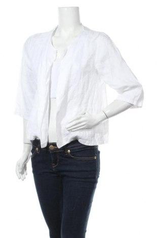 Дамска жилетка Made In Italy, Размер M, Цвят Бял, Лен, Цена 24,57лв.