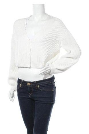 Дамска жилетка Na-Kd, Размер M, Цвят Бял, 50% акрил, 50% памук, Цена 34,22лв.