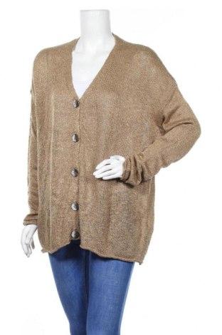 Γυναικεία ζακέτα Zara Knitwear, Μέγεθος M, Χρώμα Καφέ, 92%ακρυλικό, 8% πολυεστέρας, Τιμή 15,59€