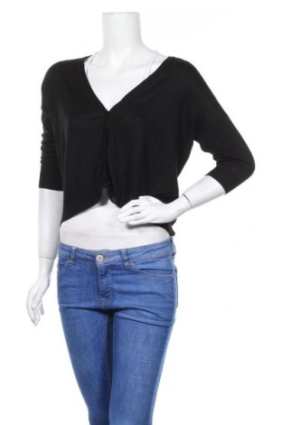 Дамска жилетка Zara Knitwear, Размер M, Цвят Черен, Цена 21,75лв.