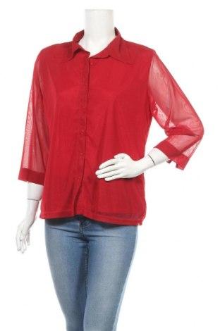 Дамска риза Biaggini, Размер XL, Цвят Червен, Полиестер, Цена 16,96лв.