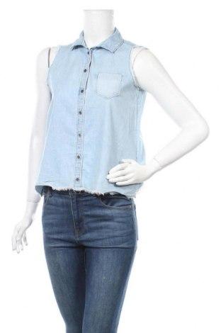 Дамска риза Clockhouse, Размер S, Цвят Син, Цена 13,23лв.