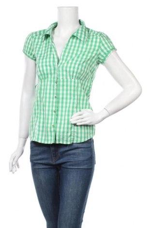 Дамска риза Fishbone, Размер S, Цвят Зелен, 65% памук, 32% полиестер, 3% еластан, Цена 16,96лв.