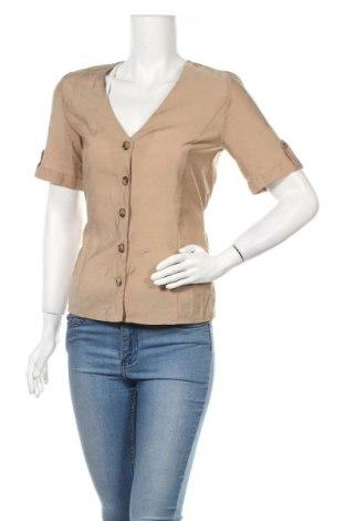 Дамска риза Gestuz, Размер XS, Цвят Бежов, 85% лиосел, 15% полиестер, Цена 25,50лв.