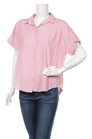 Дамска риза H&M L.O.G.G., Размер M, Цвят Червен, Памук, Цена 14,96лв.