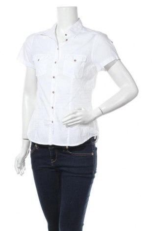 Дамска риза H&M L.O.G.G., Размер S, Цвят Бял, Памук, Цена 17,85лв.