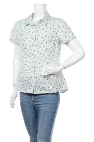 Дамска риза H&M L.O.G.G., Размер L, Цвят Зелен, Памук, Цена 18,90лв.