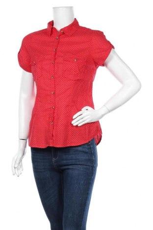 Дамска риза H&M L.O.G.G., Размер M, Цвят Червен, Памук, Цена 15,12лв.