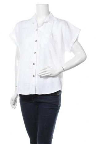 Дамска риза H&M L.O.G.G., Размер M, Цвят Бял, 52% лен, 48% памук, Цена 15,12лв.