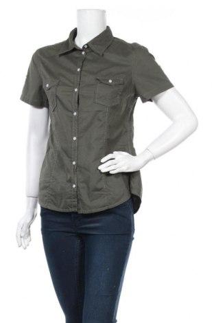 Дамска риза H&M L.O.G.G., Размер M, Цвят Зелен, Памук, Цена 18,90лв.