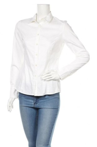 Дамска риза Jones, Размер M, Цвят Бял, 74% памук, 23% полиамид, 3% еластан, Цена 24,00лв.