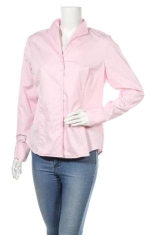 Дамска риза Lawrence Grey, Размер L, Цвят Розов, 69% памук, 27% полиамид, 4% еластан, Цена 26,64лв.
