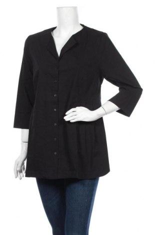 Γυναικείο πουκάμισο Myrine, Μέγεθος S, Χρώμα Μαύρο, 73% βαμβάκι, 23% πολυαμίδη, 4% ελαστάνη, Τιμή 2,64€