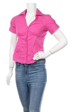 Дамска риза Piazza Italia, Размер S, Цвят Розов, 69% памук, 28% полиамид, 3% еластан, Цена 12,50лв.