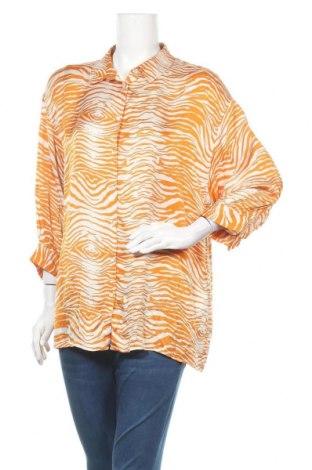 Γυναικείο πουκάμισο Soya Concept, Μέγεθος L, Χρώμα Πορτοκαλί, Βισκόζη, Τιμή 7,40€