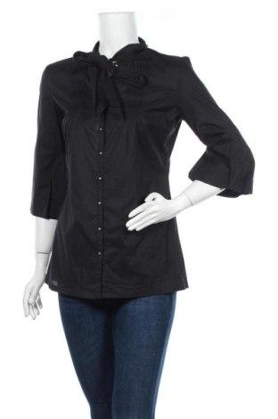 Γυναικείο πουκάμισο Staccato, Μέγεθος M, Χρώμα Μαύρο, Βαμβάκι, Τιμή 7,18€