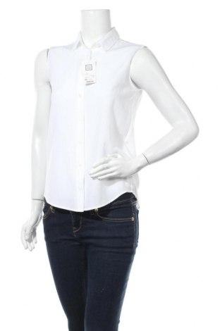 Дамска риза Uniqlo, Размер XS, Цвят Бял, 76% вискоза, 24% полиестер, Цена 26,46лв.