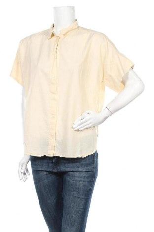 Дамска риза Uniqlo, Размер L, Цвят Екрю, Памук, Цена 10,92лв.