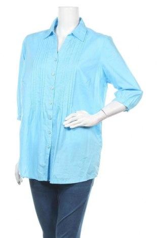 Дамска риза Walbusch, Размер XL, Цвят Син, Памук, Цена 18,95лв.