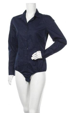 Дамска риза-боди Seidensticker, Размер L, Цвят Син, 96% памук, 4% еластан, Цена 29,67лв.