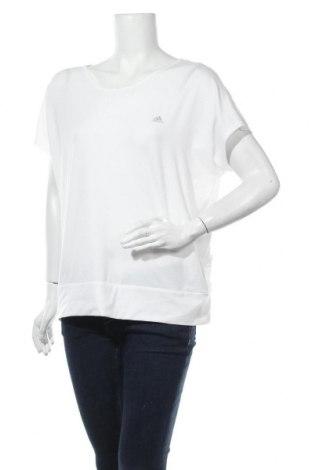 Γυναικεία αθλητική μπλούζα Adidas, Μέγεθος L, Χρώμα Λευκό, 74% πολυεστέρας, 19% lyocell, 7% ελαστάνη, Τιμή 17,90€