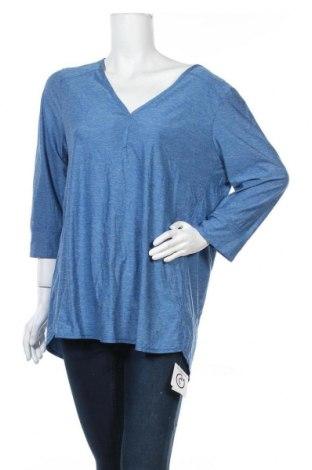 Дамска спортна блуза Eddie Bauer, Размер XL, Цвят Син, 92% полиестер, 8% еластан, Цена 17,01лв.