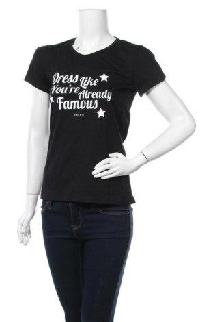 Дамска тениска, Размер M, Цвят Черен, Цена 14,96лв.