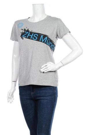 Дамска тениска, Размер L, Цвят Сив, 67% памук, 28% полиестер, 5% еластан, Цена 6,25лв.