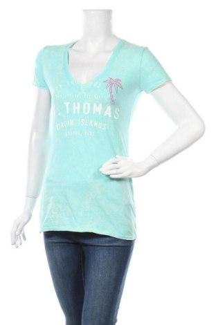 Дамска тениска, Размер M, Цвят Син, Памук, Цена 6,83лв.