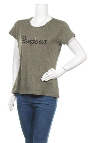 Дамска тениска, Размер XL, Цвят Зелен, 50% памук, 50% полиестер, Цена 11,03лв.