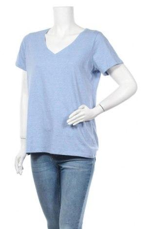Дамска тениска, Размер XL, Цвят Син, Памук, Цена 17,64лв.