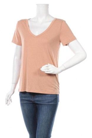 Дамска тениска A New Day, Размер S, Цвят Бежов, 64% модал, 36% полиестер, Цена 12,50лв.