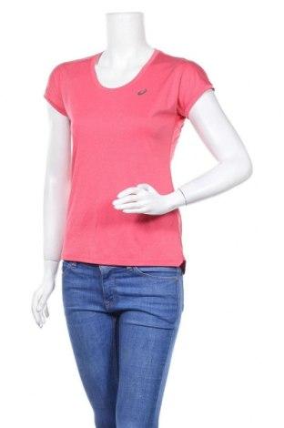Дамска тениска ASICS, Размер S, Цвят Червен, Полиестер, Цена 16,96лв.