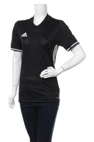 Дамска тениска Adidas, Размер S, Цвят Черен, Полиестер, Цена 13,86лв.