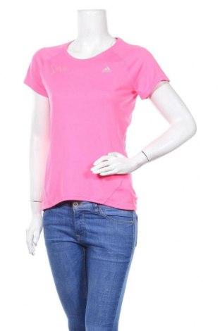 Дамска тениска Adidas, Размер S, Цвят Розов, Полиестер, Цена 22,79лв.