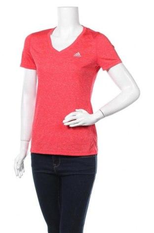 Дамска тениска Adidas, Размер S, Цвят Червен, Полиестер, Цена 14,33лв.