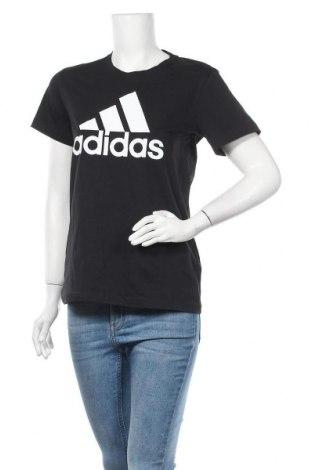 Дамска тениска Adidas, Размер M, Цвят Черен, Памук, Цена 60,90лв.