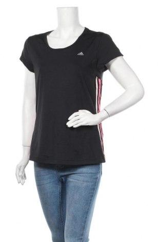 Дамска тениска Adidas, Размер L, Цвят Черен, 86% полиамид, 14% еластан, Цена 27,30лв.