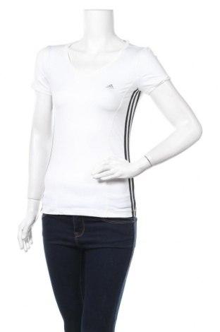 Γυναικείο t-shirt Adidas, Μέγεθος S, Χρώμα Λευκό, 90% πολυεστέρας, 10% ελαστάνη, Τιμή 15,59€