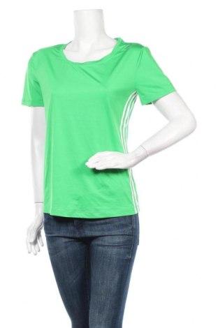 Дамска тениска Adidas, Размер M, Цвят Зелен, 80% полиестер, 20% еластан, Цена 23,94лв.