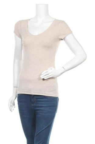 Γυναικείο t-shirt Ambiance Apparel, Μέγεθος M, Χρώμα  Μπέζ, 95% βαμβάκι, 5% ελαστάνη, Τιμή 8,83€