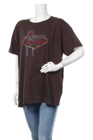 Дамска тениска Anvil, Размер XXL, Цвят Кафяв, Памук, Цена 15,75лв.