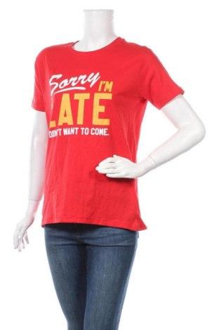 Дамска тениска Bluenotes, Размер L, Цвят Червен, Памук, Цена 22,05лв.