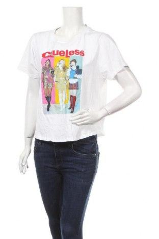Дамска тениска CLUELESS, Размер XL, Цвят Бял, Памук, Цена 15,75лв.