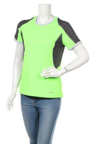Дамска тениска CMP, Размер L, Цвят Зелен, Полиестер, Цена 16,50лв.