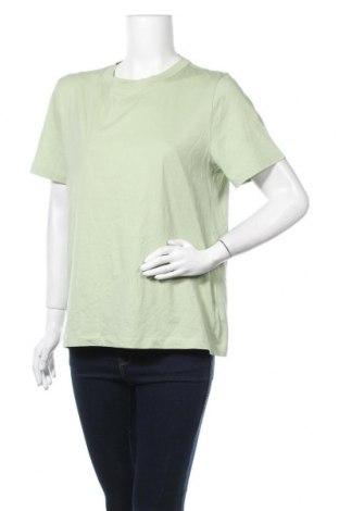 Дамска тениска COS, Размер L, Цвят Зелен, Памук, Цена 57,96лв.