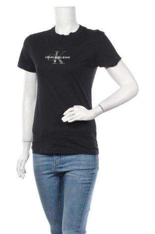 Дамска тениска Calvin Klein Jeans, Размер S, Цвят Черен, Памук, Цена 55,50лв.