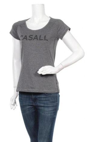 Дамска тениска Casall, Размер L, Цвят Сив, 51% полиамид, 42% полиестер, 7% еластан, Цена 15,17лв.